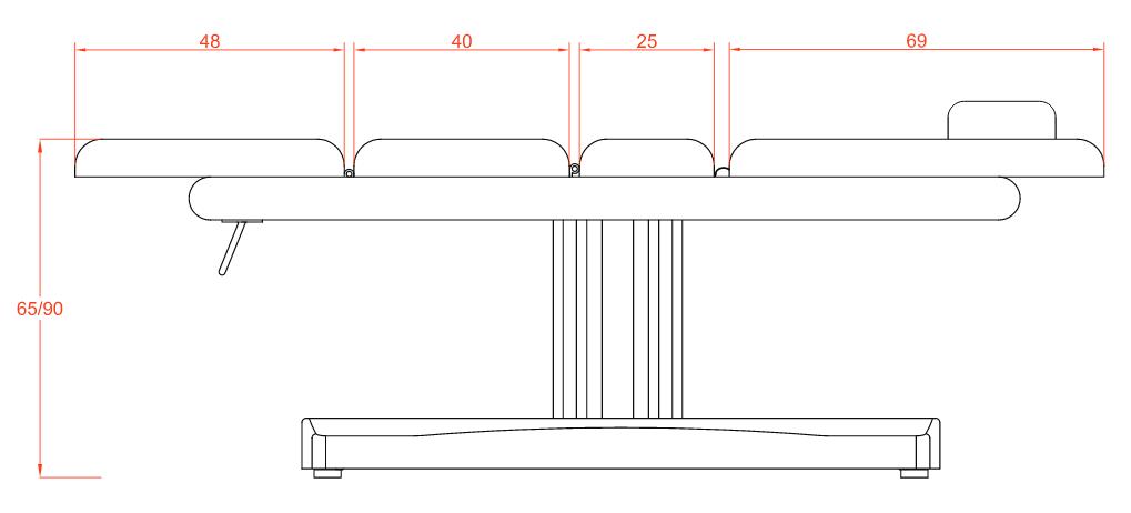 table de massage et d esth tique lectrique 3 plans. Black Bedroom Furniture Sets. Home Design Ideas