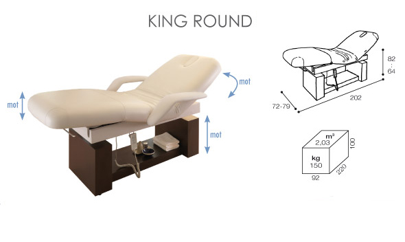 Table de massage lectrique king open round - Table de massage electrique pas cher ...