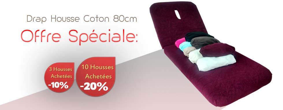 Drap Housse Coton 80 cm grande largeur