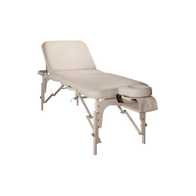 table de massage et d 39 esth tique pliante pro avec dossier. Black Bedroom Furniture Sets. Home Design Ideas