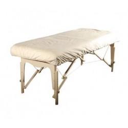 Housse table de massage en Flanelle avec trou visage
