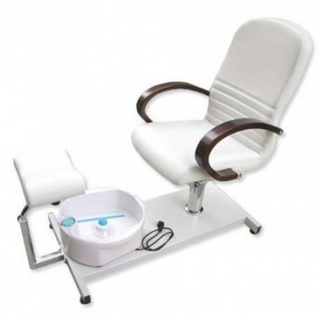 fauteuil de p dicure avec baignoire de pieds. Black Bedroom Furniture Sets. Home Design Ideas