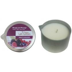 Bougie de Massage Fruits Rouges