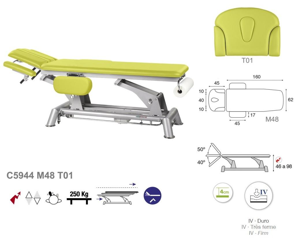 Table lectrique d 39 ost opathie avec accoudoirs - Table electrique osteopathie occasion ...