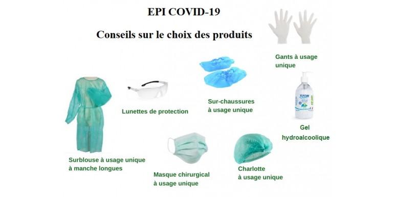 Choix du matériel EPI COVID-19